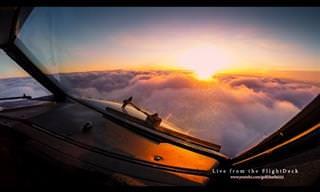 Veja os céus e o mundo como se fosse um piloto de avião!