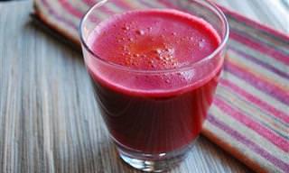 Suco Medicinal de Beterraba, Maçã e Cenoura