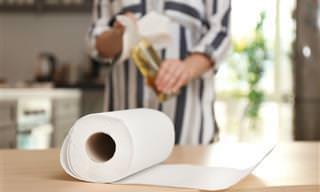 7 Itens que não devem ser limpos com tolhas de papel