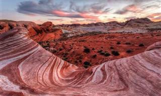 Conheça o Deserto do Parque Estadual Vale do Fogo nos Estados Unidos