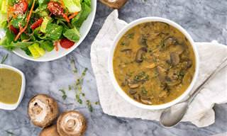Sopa de Cogumelo Com Poucas Calorias