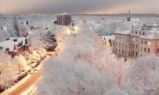 24 Cidades Que Reluzem Com a Magia do Inverno