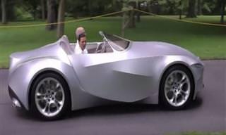 Você já se imaginou dirigindo um carro de tecido?