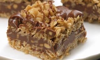 Delícia de Receita: Barrinhas de Chocolate Com Aveia e Amendoim