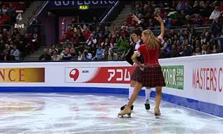 Dança de gelo escocesa com tema de John e Sinead Kerr