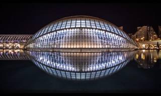 A Magia Arquitetônica da Europa à Noite
