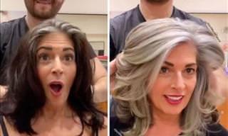 Assumir os cabelos grisalhos pode ser libertador!
