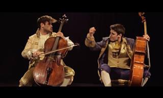 Eu não esperava por esta apresentação de violoncelos!