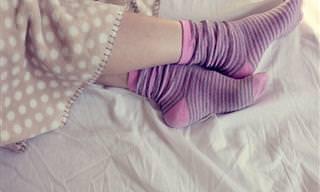Os Benefícios de Dormir de Meias