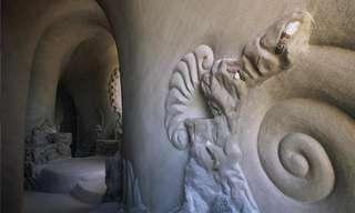 Caverna Subterrânea Transformada em Arte