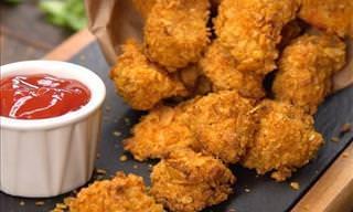 Receita do Dia: Nuggets de Peito de Frango Crocante Com Especiarias