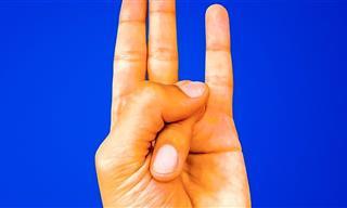 O que acontece se você mantiver sua mão assim?