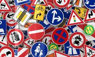 Por que as placas de trânsito têm formatos diferentes?