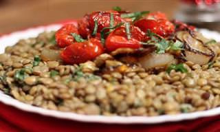 Salada de Lentilha Para o Réveillon!