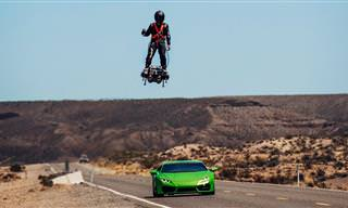 Incrível! Homem Voando Num Hoverboard A 160km/h