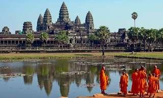Os Extraordinários Templos de Angkor Wat e Thom