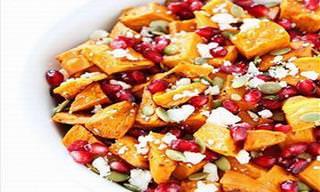 Receita De Salada De Batata-Doce E Romã