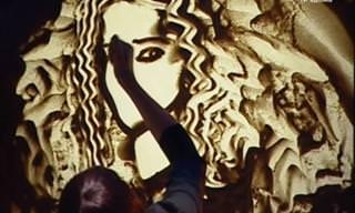 Você Já Viu Histórias Contadas em Painéis de Areia?