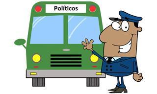 Um Ônibus Cheio de Políticos Na Estrada Rural