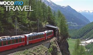 Vamos dar uma volta no espetacular Bernina Express