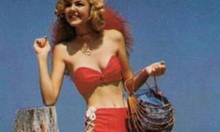 A moda praia e piscina dos anos 50 era um charme