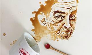 Incrível Arte Feita Com Café Derramado