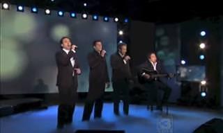 Esse quarteto de tenores tiveram uma surpresa no palco!