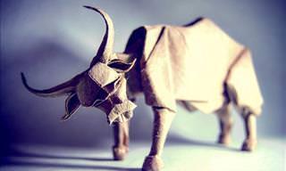 Animais Maravilhosos de Origami do Artista Gonzalo Calvo