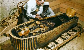 Lindas Fotos Recoloridas da Abertura da Tumba de Tutancâmon