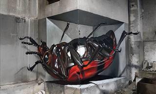 Arte de Rua: Ilusões de Ótica em 3D