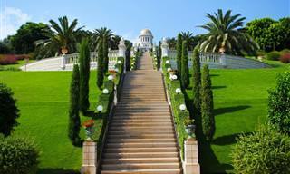 Encante-se Com as Belezas Desse Jardim em Haifa, Israel