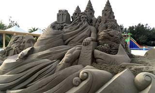 Esculturas Fantásticas da Areia por Toshihiko Hosaka