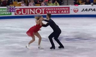 Um belíssimo balé no gelo que você precisa ver!