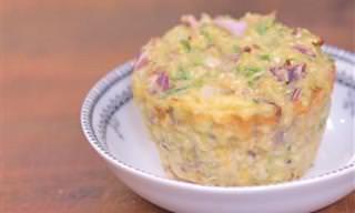 Receita de Muffin Salgado de Abobrinha e Couve-flor