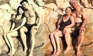 Antes e Depois: Lindos Casais Juntos Após Muitos Anos