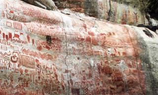 Confira essas pinturas rupestres encontradas na Amazônia