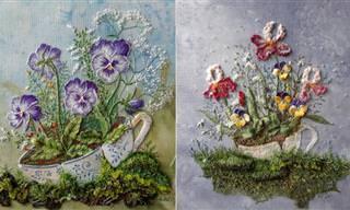 Os caprichosos bordados de Rosa Andreeva