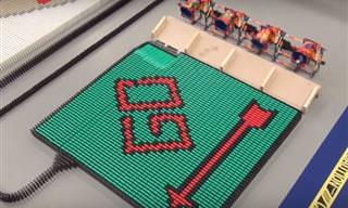 Valendo! Veja 250 mil dominós cairem neste incrível vídeo!