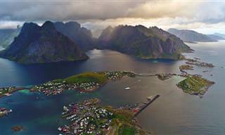 Vamos viajar pelas belas paisagens de Lofoten, Noruega