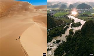 Belas paisagens da China vistas de cima