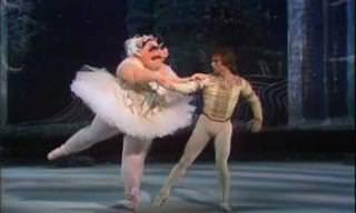 Nureyev & Miss Piggy num pas-de-deux memorável