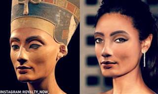Personagens históricos com aparência moderna