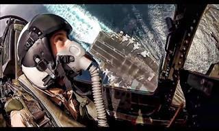 Quer saber como é dirigir um avião caça militar?