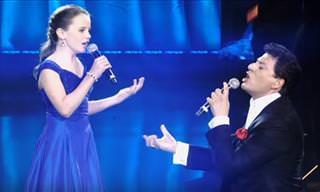 Veja essa pequena cantora impressionar com 'O Sole Mio'