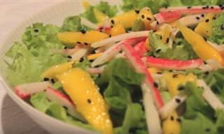 Receita Refrescante e Gostosa: Salada de Manga com Kani!