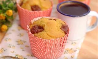 Muffin Com Sabor do Brasil: Fubá e Goiabada!