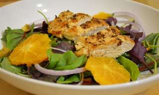 Combata Resfriados Com Salada de Frango e Laranja!