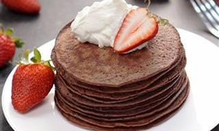 Panqueca de Chocolate Sem Glúten e Sem Lactose