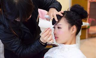 O milagre da maquiagem na transformação destas noivas
