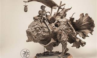 Esculturas de Argila Impressionam Com Seus Detalhes
